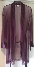 Victoria's Secret Plum Sheer Kimono Robe Cover-Up & Thong Set O/S/Medium