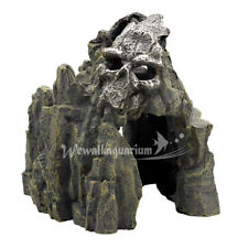 Aquarium Decorations Skull Mountain Fish Tank Cave Ornament Decor Pet Supplies