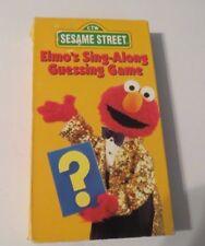 CTW~SESAME STREET~ELMO'S SING-ALONG GUESSING GAME~VHS, YOU PICK~1+ SHIP