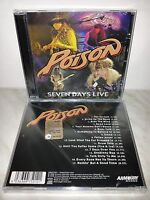 CD POISON - SEVEN DAYS LIVE - SEALED - SIGILLATO