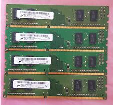 4 X 2GB 1Rx16 PC3-12800U Micron MT4JTF25664AZ-1G6E1 DDR3-1600 Desktop Memory RAM