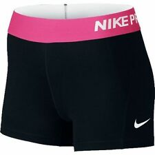 Nike Pro 3 Inch Compression Women's S Training Fitness Shorts 725443 Colors Black With Pink Band