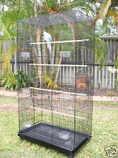 Large bird Cage Aviary Parrot  Pet Budgie Perch on Castor Wheels Large TOWER