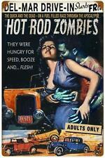 Retro Hot Rod Zombie Race Car Metal Sign Man Cave Garage Wall Decor RGG040