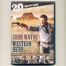 20 movies: John Wayne Western Hero, new DVD set, 24+ hours 1933-1971 cowboy Duke
