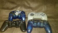 Docs,Sony, Intec  Wireless 4 Controllers (Sony Playstation 1 ps1) (for parts)