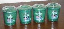 Magical Frosted Forest Yankee Candle scented votive sampler candles lot 4 new