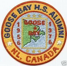 GOOSE BAY HIGH SCHOOL ALUMNI PATCH, NL, CANADA,1956-1976                       V
