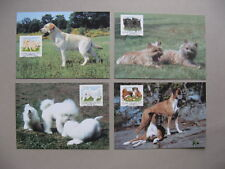 FINLAND, 4x maximumcard maxi card 1998, young dogs puppies on prestamped PC