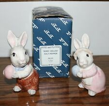 Fitz and Floyd Bunny Hollow Bunny Rabbit Salt and Pepper Set - New in Box