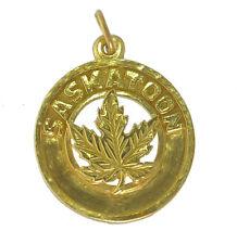 HOT Yellow 24K Gold plated real silver saskatoon city Saskatchewan Canada day ch