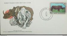 RL) 1978 AFRICA, ANIMALS, RHINO, NATURE, WORLD WILDLIFE FUND, FDC ( II-2018)