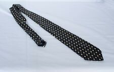 Van Heusen men's designer Pure Silk black patterned tie