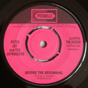 """PETER JAY & THE JAYWALKERS Before The Beginning 7"""" Joe Meek RGM 35259 NM! 1965"""
