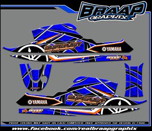 Yamaha SuperJet Graphics Decal Kit Blue (RN)