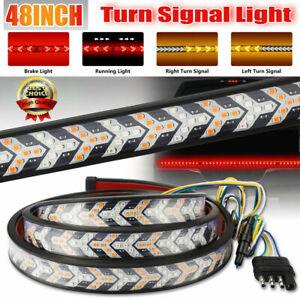 "48"" inch 432 LED Truck Strip Tailgate Turn Signal Brake Tail Reverse Light Bar"