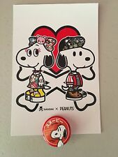 COMIC CON SDCC 2017 PEANUTS BUTTON TOKIDOKI POSTCARD