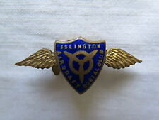 ISLINGTON AIRCRAFT PRODUCTION SOCIAL CLUB BADGE SOUTH AUST WORLD WAR II c1940s