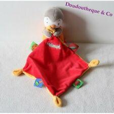 Doudou T'choupi NICOTOY mouchoir rouge jaune salopette 30 cm (DOU/D5)
