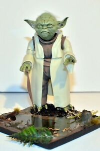 Star Wars Yoda Figure Diorama Height about 12cm  (1/6 scale)