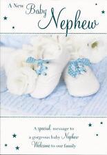 A New Baby Nephew - Beautiful Congratulations Greeting Card