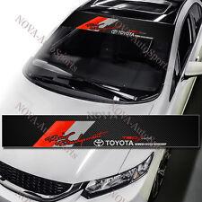 "TRD Front Window Windshield Carbon Fiber Vinyl Banner Decal Sticker 53""x8.25"""