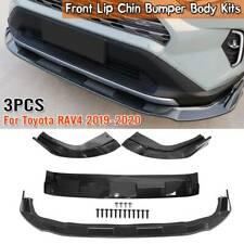 For Toyota Rav4 2019-2020 Carbon Fiber Front Bumper Lip Kit Spoiler Splitter