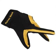 Snooker Billiard Pool Table Shooters 3 Fingers Gloves Left Hand Black Yellow