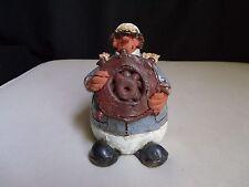 1981 Sea Captain Sailor Boat Nautical Figurine Clay Pottery Folk Art Handmade