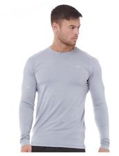 New Balance Mens Seasonless Long Sleeve Running Top Athletic Grey Size Large L