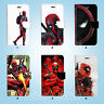 Deadpool Hero Wallet Case Cover for iPhone XS MAX XR X 8 7 6 6S Plus SE 5S 050