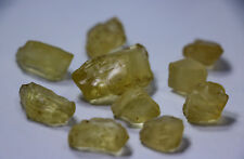 200 ct Unheated ~ Natural  Superb Yellow Scapolite Rough Lot For Facet
