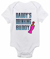Baby Bodysuit - Daddy's Drinking Buddy Cute Baby Clothes Romper for Infants