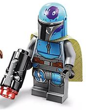 LEGO STAR WARS BLUE MANDALORIAN MINIFIGURE w/BLASTER (75267) - IN HAND