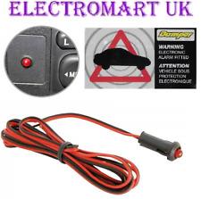 12V 12 VOLT FLASHING RED LED CAR SECURITY ALARM WARNING LIGHT + SECURITY STICKER