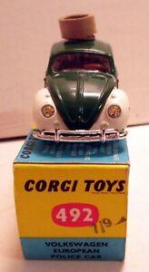 Corgi Toys 492 Volkswagen European Police Car,    original
