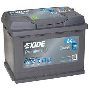 Exide Autobatterie 64AH 12V Premium Carbon Boost EA640 Neues Modell statt 60Ah