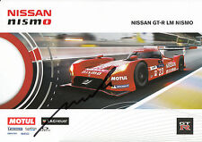 Michael Krumm Hand Signed Nissan Nismo Promo Card 2015 Le Mans