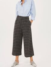 Topshop windowpane check cropped trousers
