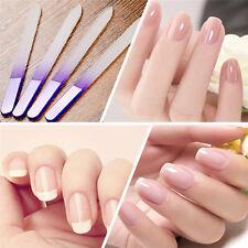 4pcs Durable Crystal Glass Nail File Buffer Nail Art File Manicure Pedicure Tool