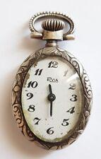 Ancien montré mécanique pendentif en argent, poinçon crabe.Fonctionne.X124