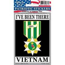 """Patriotic Stickers- """"VIETNAM-I'VE BEEN THERE"""" - 3""""X 4"""" - Made in the USA-DC0174"""