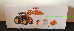 WIKING 1:32 SCALE 077342 JOHN DEERE 7430 WITH LOADER AND ATTACHMENTS (ORANGE)