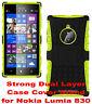 Green Strong Tough Durable Tradesman TPU Case Cover Stand for Nokia Lumia 830