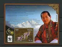 Bhutan 2015 MNH Conversation Leadership Majesty Fourth Druk Gyalpo WWF 1v S/S