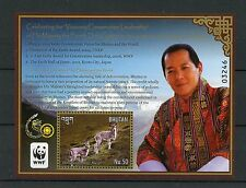 Bhutan 2015 MNH Conversation Leadership Majesty Fourth Druk Gyalpo WWF 1v S/S