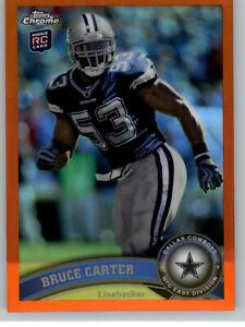 2011 Topps Chrome Orange Refractor #175 Bruce Carter RC - Dallas Cowboys Rookie