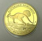 1 oz 2015 AUSTRALIAN KANGAROO Coin Medallion 24K 999 GOLD FINISHED