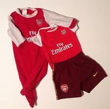 Baby Boys 3-6 6-9 Months Arsenal Nike X2 Bodysuit Baby Grows + Shorts Bundle