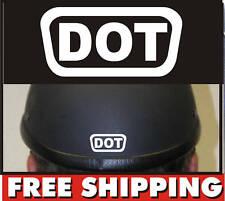 2 D.O.T DOT HELMET DECALS STICKER PACK  WHITE SHIPPING